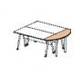Крышка стола приставного 61531