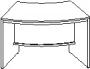 Модуль конференц-стола радиусный 1