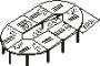 Конференц-стол сегментный 17 (3600)